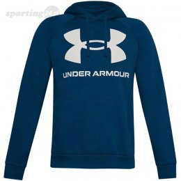Bluza męska Under Armour Rival Fleece Big Logo Hd ciemny niebieski 1357093 581 Under Armour